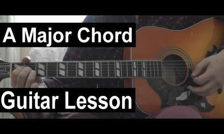 A Major Chord LEFT HANDED Guitar Lesson | How to Play an A Major Chord on Guitar!