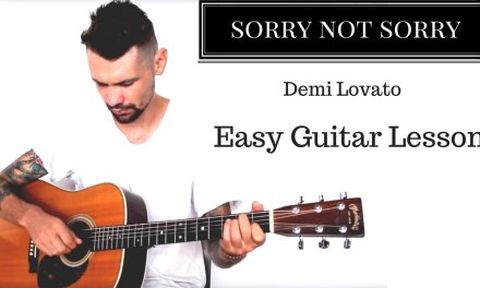 Demi Lovato 'sorry not sorry' guitar lesson
