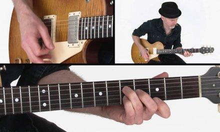Blues Rhythm Guitar Lesson – Saw Blade Performance – Jeff McErlain