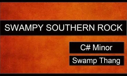 SWAMPY SOUTHERN ROCK Guitar Backing Track Jam in C# Minor – Swamp Thang