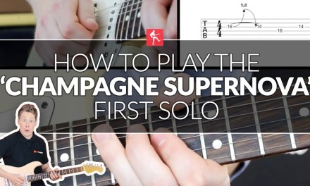 How To Play The Champagne Supernova Main Solo – Guitar Lesson