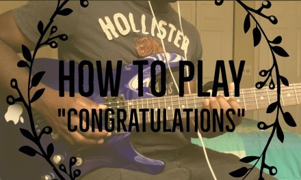 """How To Play """"Congratulations"""" by Post Malone (Guitar Tutorial)"""