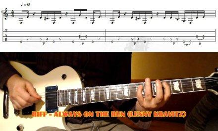 Always On The Run RIFF (Lenny Kravitz & Slash) GUITAR LESSON with TAB
