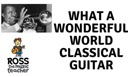 What a Wonderful World Classical Fingerstyle Guitar – Louis Armstrong