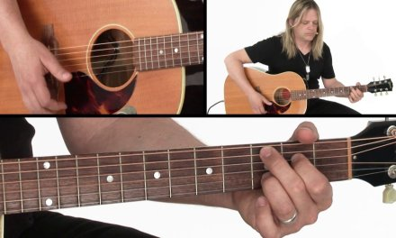 Acoustic Rock Rhythm Guitar Lesson – Just Talking Performance – Angus Clark