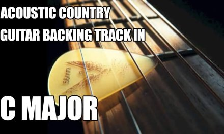 """Acoustic Country Guitar Backing Track In C Major / A Minor """"2"""""""