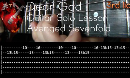 Dear God Guitar Solo Lesson – Avenged Sevenfold (with tabs)