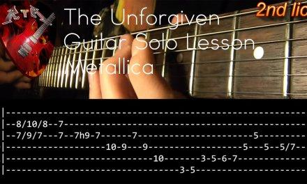 The Unforgiven Guitar Solo Lesson – Metallica (with tabs)