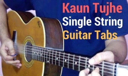 kaun tujhe single string tabs lead lesson tutorial from ms dhoni the untold story