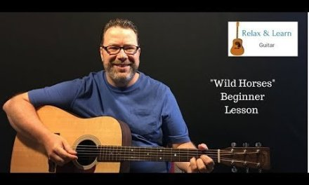 Wild Horses – Rolling Stones – how to play – easy acoustic guitar lesson