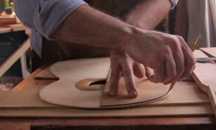 Luthier Making Classical Flamenco Guitars
