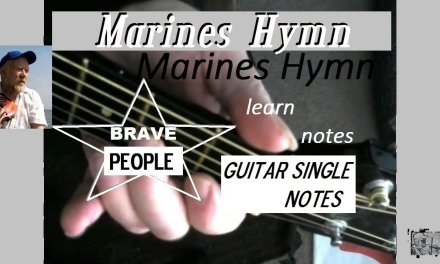 Inspiring, Marine's song ,how to play guitar fingering lesson
