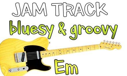 Bluesy Groovy Fusion Guitar Backing Track Jam in Em