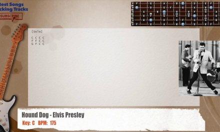 Hound Dog – Elvis Presley Guitar Backing Track with chords and lyrics