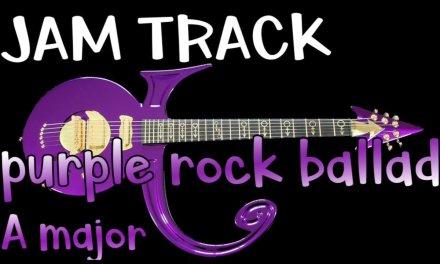 Purple Rock Ballad Blues Guitar Backing Track Jam in A