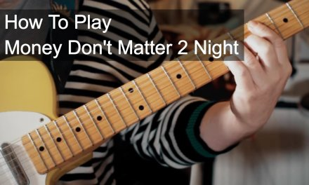 Money Don't Matter 2 Night – Prince Guitar Lesson