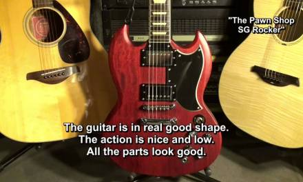My Guitars: The Pawn Shop Epiphone (Gibson) SG Rocker Guitar Story EricBlackmonMusicHD