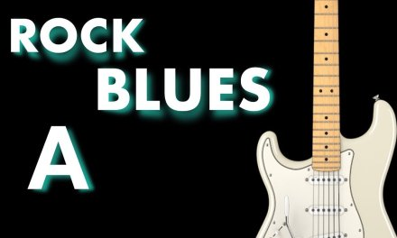 Rock – Blues Guitar jam Track in  A