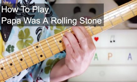'Papa Was A Rolling Stone' The Temptations Guitar & Bass Lesson