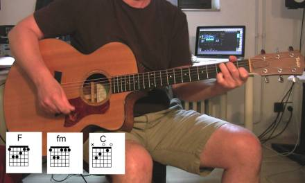 """""""Don't Look Back In Anger"""", Acoustic Guitar with original vocals + chord diagrams, OASIS"""