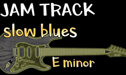 Blues Slow Funk Groove Guitar Backing Track Jam in Em