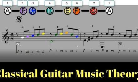 Classical Guitar Music Theory Lesson – Fernando Sor Op. 60 No. 5 Using COLOR – Part 1