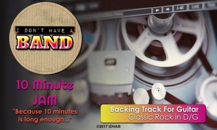 10 Minute Jam – Classic Rock in D/G  – Guitar Backing Track
