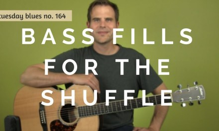 How to Play 3 Bass Fills to a Funky Blues Shuffle | Tuesday Blues #164