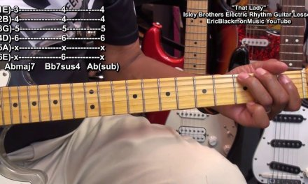 WHO'S THAT LADY Isley Brothers Guitar Lesson EricBlackmonGuitar HD