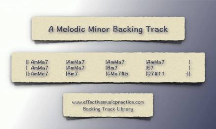 A Melodic Minor Backing Track