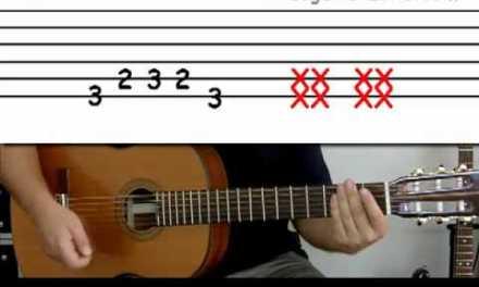 Guitar lesson 3B : Beginner — 'Blister in the sun' on two strings