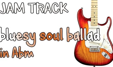 Bluesy Soul Ballad Guitar Backing Track Jam in Abm