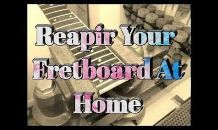 how to repair guitar fretboard from your own