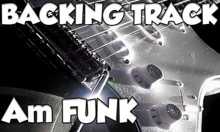 Funk Dorian Groove Blues Guitar Backing Track jam in am