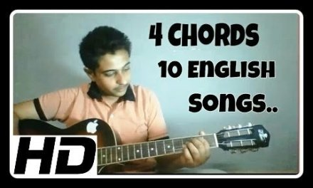 4 Chords and 10 Famous English songs – Guitar Lesson for begginers| Guitar Tutorial for free|