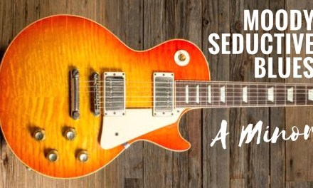 Moody Seductive Blues   Guitar Backing Track Jam in Am