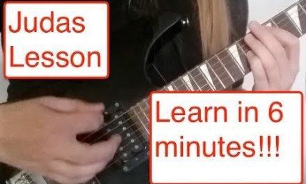 "Fozzy ""Judas"" Full Guitar Lesson"