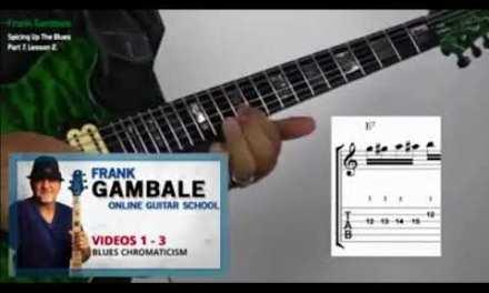 Frank Gambale explains blues chromaticism