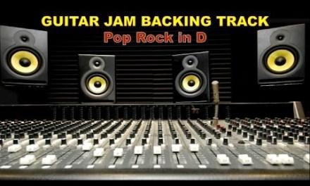 Guitar Jam Backing Track – Pop Rock in D (120 bpm)