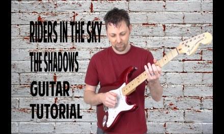 Riders in the sky guitar tutorial by Ken Mercer