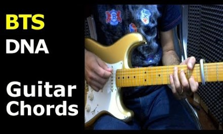 HOW TO PLAY – BTS – DNA – Guitar Lesson/Chords