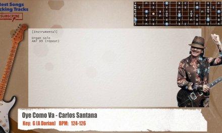 Oye Como Va – Carlos Santana Guitar Backing Track with chords and lyrics