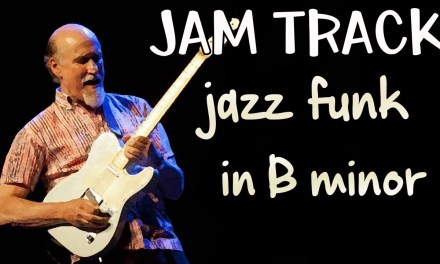 Jazz Funk Guitar Backing Track Jam in Bm