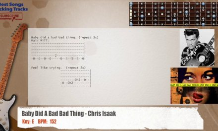 Baby Did A Bad Bad Thing – Chris Isaak Guitar Backing Track with chords and lyrics