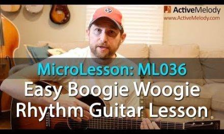 Boogie Woogie Rhythm Guitar Lesson on Acoustic Guitar – ML035