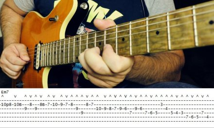 GUITAR LESSON – The Masters of Economy / Sweep Picking series # lick 01 – FRANK GAMBALE