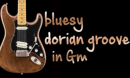 Bluesy Dorian Groove Funk Guitar backing Track Jam in Gm