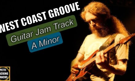 West Coast Groove Guitar Backing Track Jam in A Minor