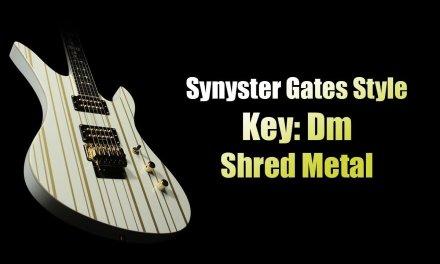 Synyster Gates Style / Key: Dm (Jam Track)