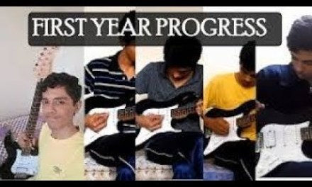 First Year Playing The Electric Guitar – Self Taught – Beginner Guitar Progress